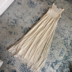 Embroidered ivory Zara maxi dress